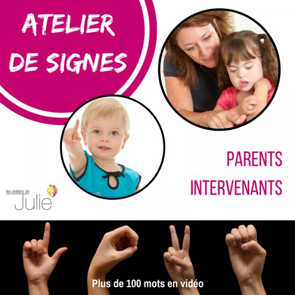 Atelier de signes pour aider la communication avec les enfants à besoins particuliers ou les bébés
